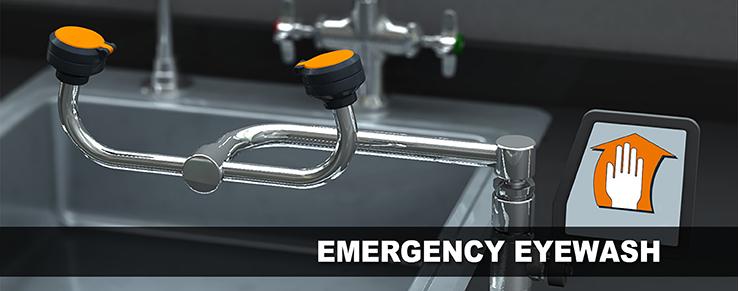 Emergency Eyewash Banner