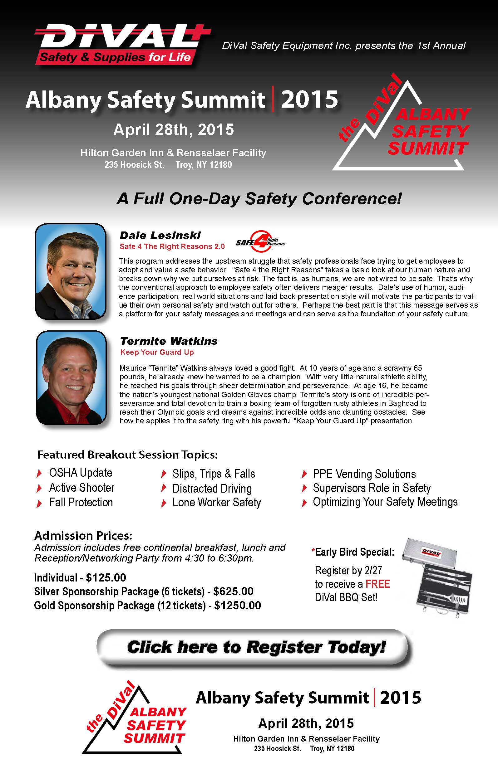 Albany Safety Summit - Web Landing Page